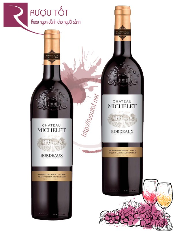 Vang Pháp Chateau Michelet Bordeaux 750ml
