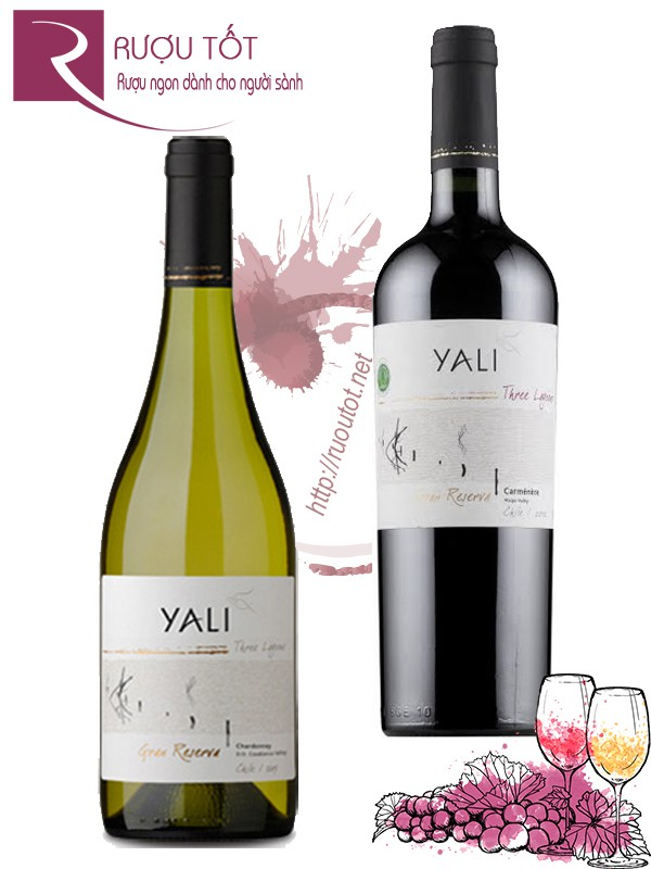 Vang Chile Yali Three Lagoons Gran Reserva (red-white) Thượng hạng