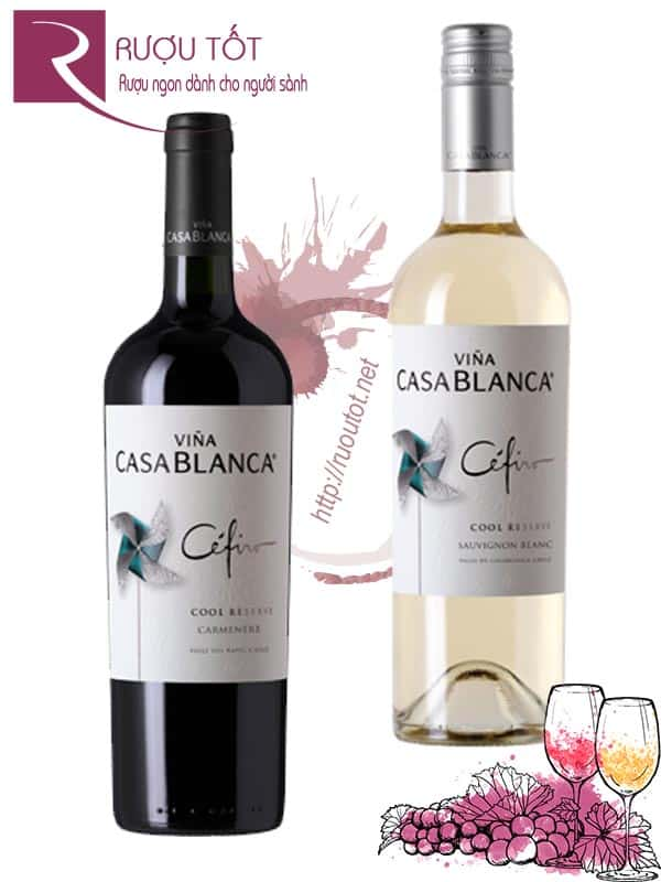 Vang Chile Casablanca Cefiro Reserva (red - white)