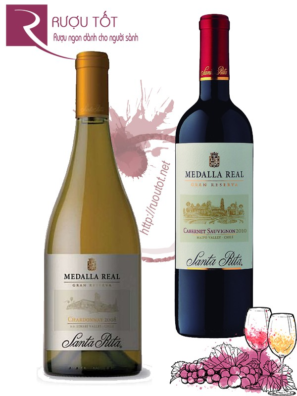 Vang Chile Medalla Real Santa Rita (red – white)