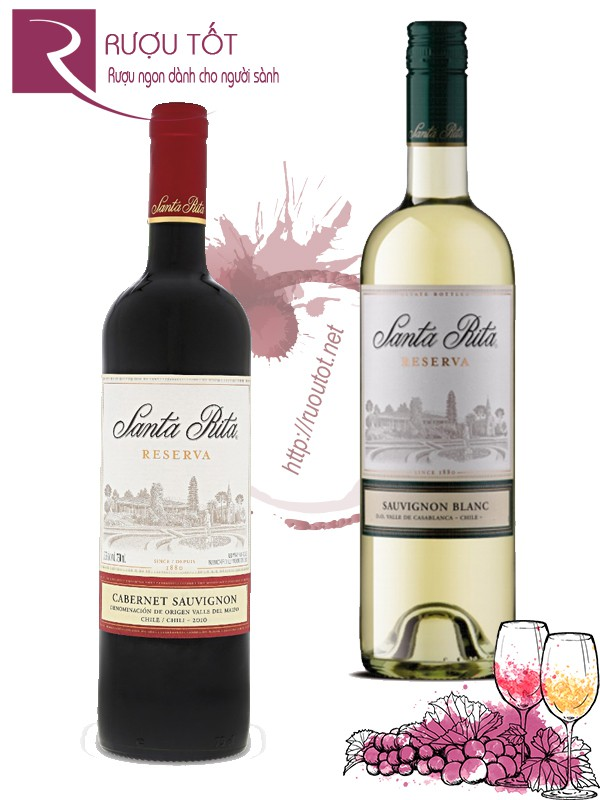Vang Chile Santa Rita Reserva (red – white)