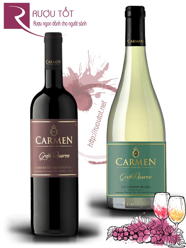 Vang Chile Carmen Gran Reserva (red – white)