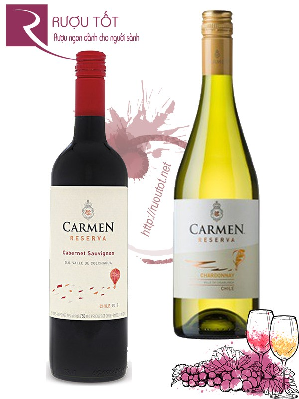 Vang Chile Carmen Reserva (red – white)