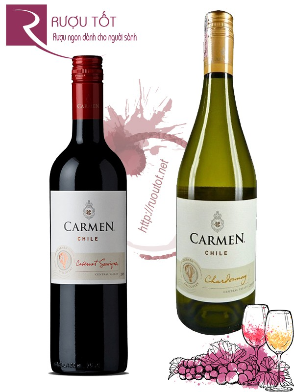 Vang Chile Carmen Classic  (red – white)