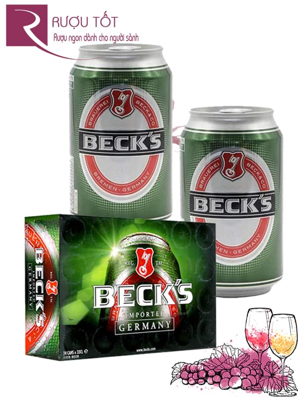 Bia Beck's 5% Đức - Lon 330 ml