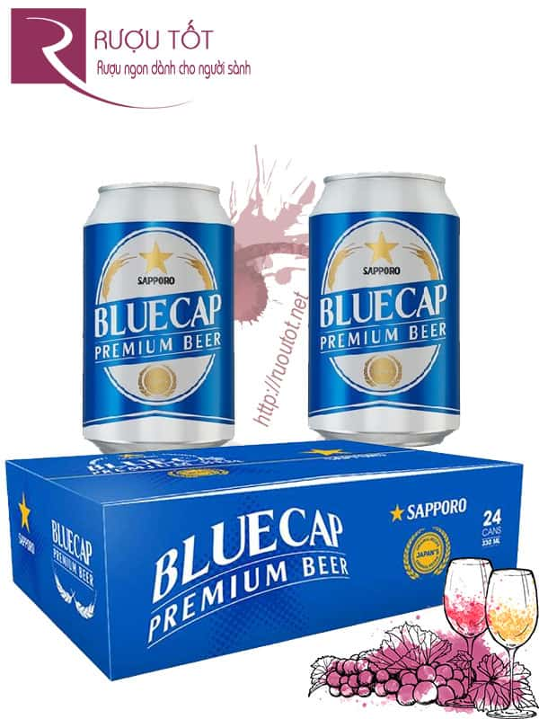 Bia Blue Cap 4,5% - Lon 330ml