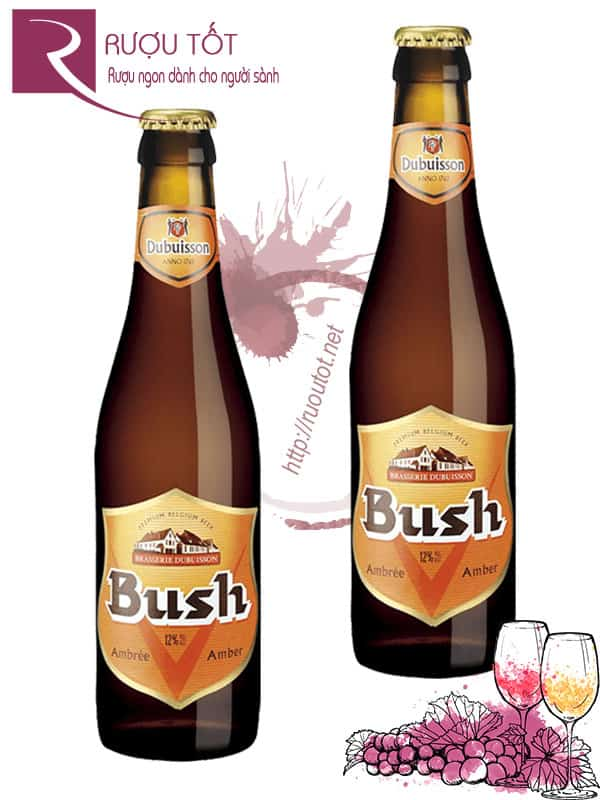 Bia Bush Amber Triple 12% -Chai 330 ml