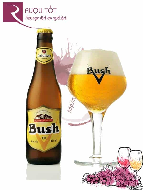 Bia Bush Blond 10.5% Bỉ - chai 330ml