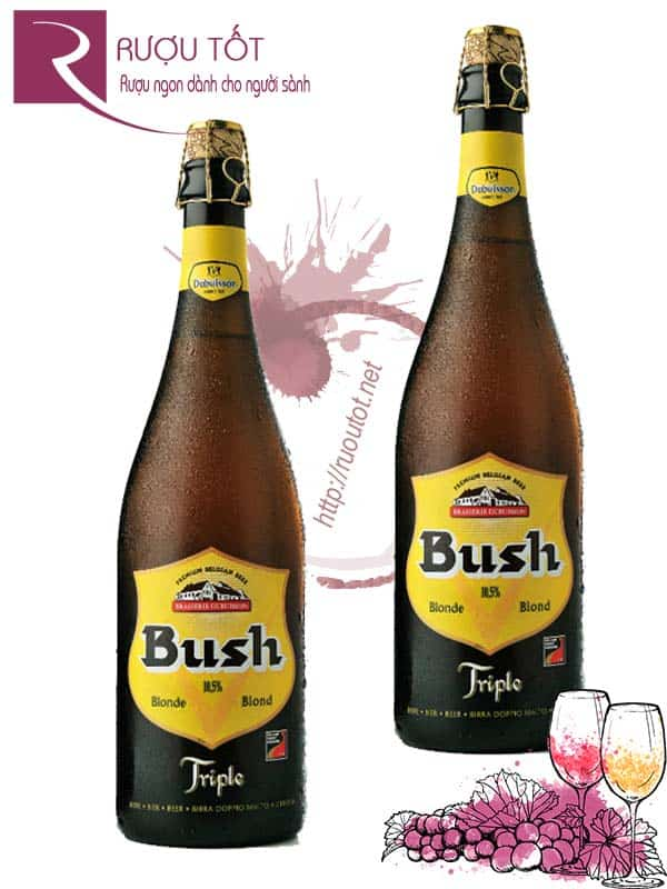 Bia Bush Blond 10.5% Bỉ - chai 750ml