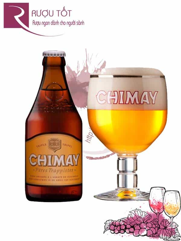 Bia Chimay trắng White 8% Bỉ - chai 330 ml Limited