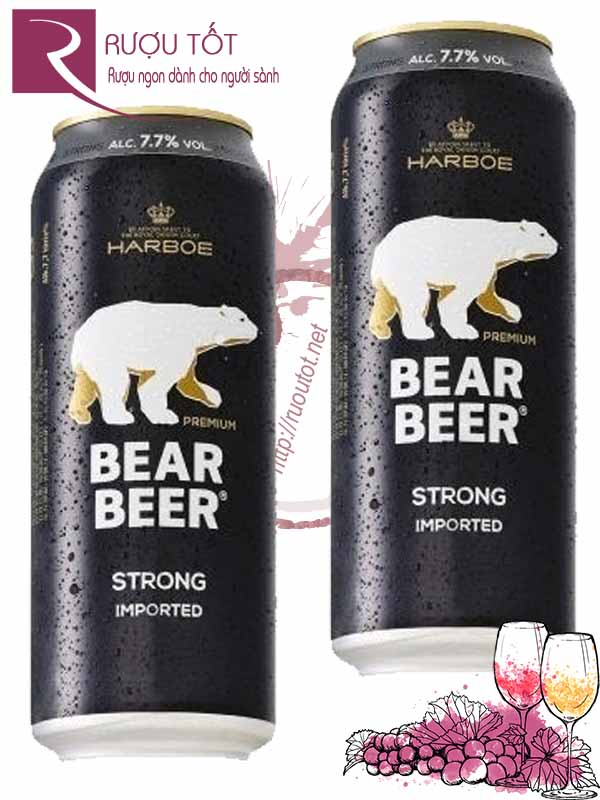 Bia Bear Beer Gấu Đức Strong 7,7%