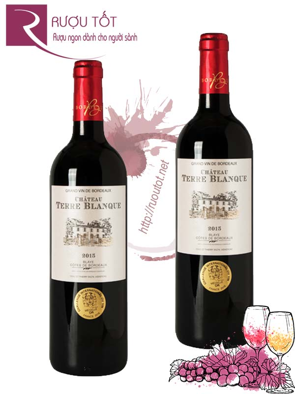 Vang Pháp Chateau Terre Blanque Bordeaux Red Cao cấp