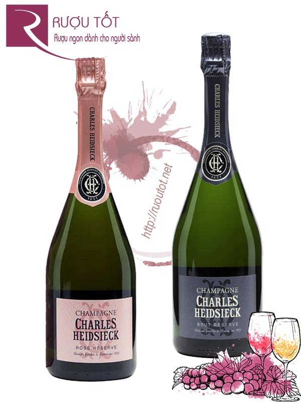 Champagne Pháp Charles Heidsieck Brut - Rose Reserve Cao cấp