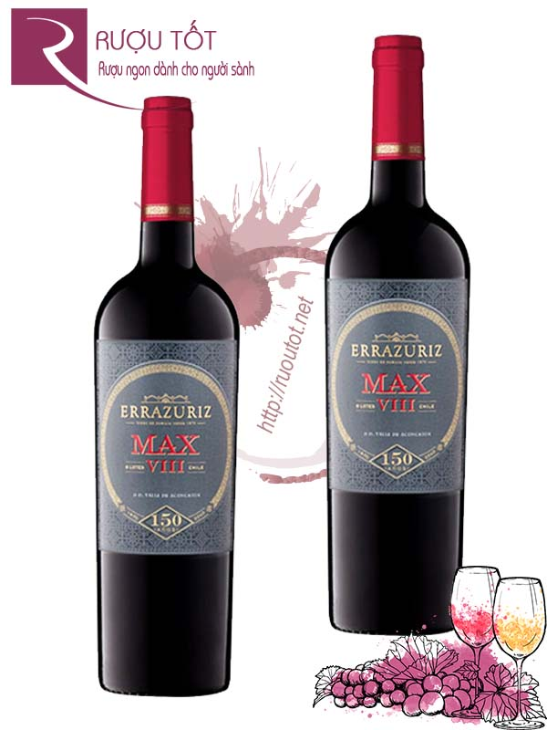 Vang Chile Errazuriz Max VIII Aconcagua Valley 93 điểm Cao cấp