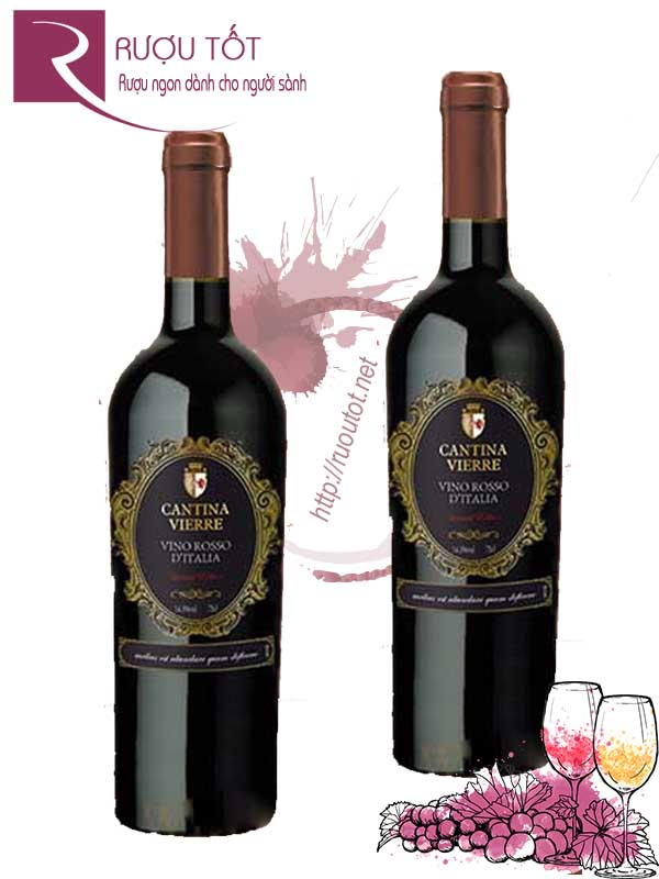 Vang Ý Cantina Vierre Limited Edition Vino Rosso D'italia  Hảo hạng
