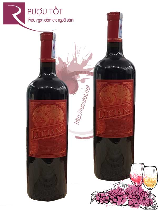 Vang Ý Luciano Limited Edition Negroamaro Puglia 15,5 độ Hảo hạng