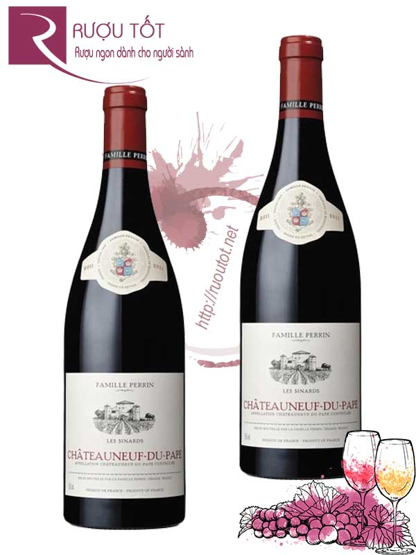 Vang Pháp Chateauneuf Du Pape Perrin Les Sinards Hảo hạng