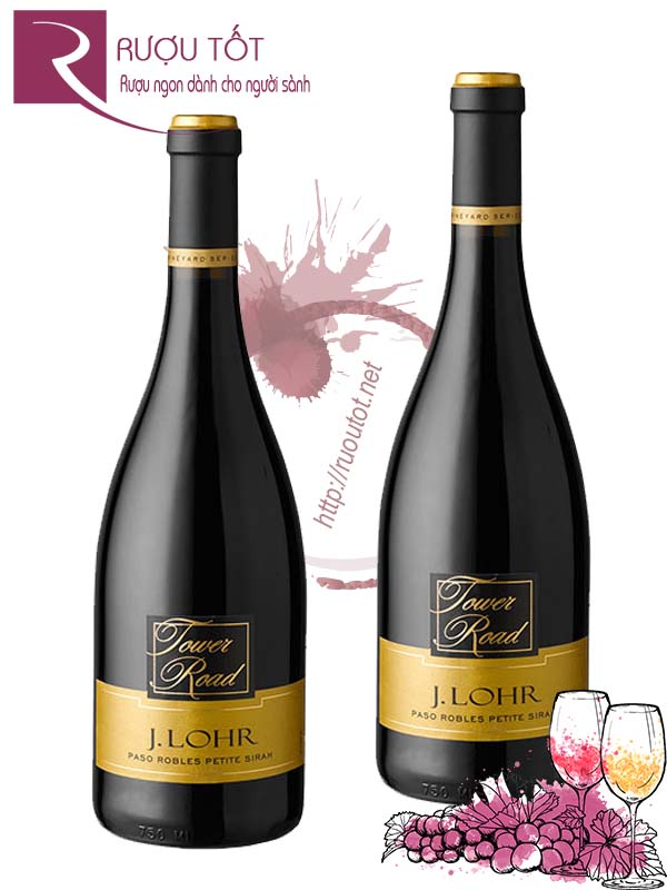 Rượu vang J Lohr Vineyard Series Tower Road Petite Sirah Cao cấp