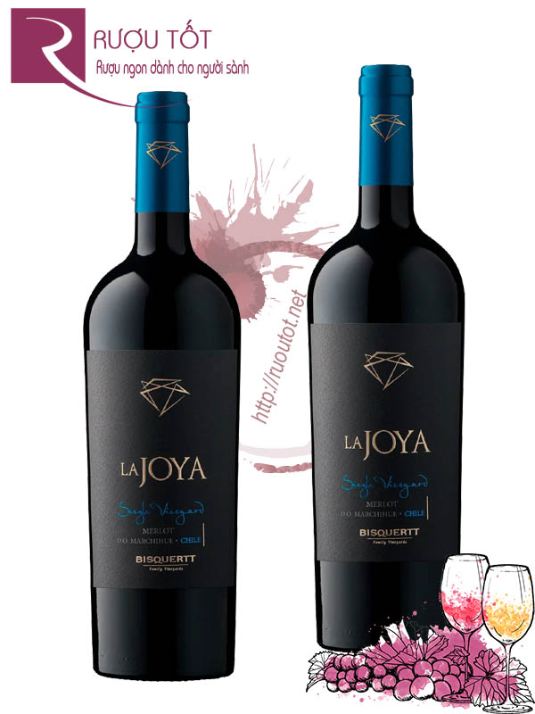 Vang Chile La Joya Single Vineyard Merlot Bisquertt