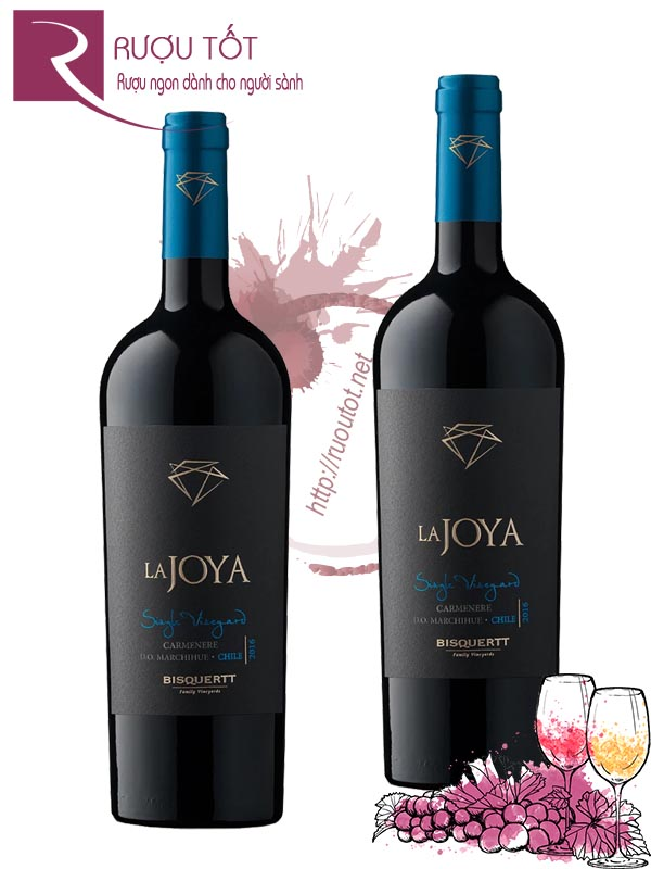Vang Chile La Joya Single Vineyard Carmenere Bisquertt Cao cấp