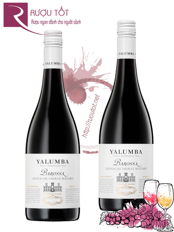 Rượu Vang Yalumba Barossa Grenache Shiraz Mataro Samuel Collection