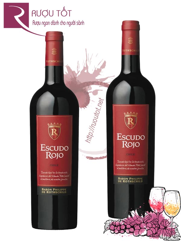 Vang Chile Escudo Rojo Baron Philippe de Rothschild Thượng hạng