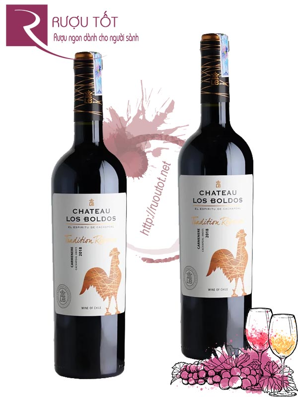 Vang Chile Chateau Los Boldos Tradition Reserve Carmenere