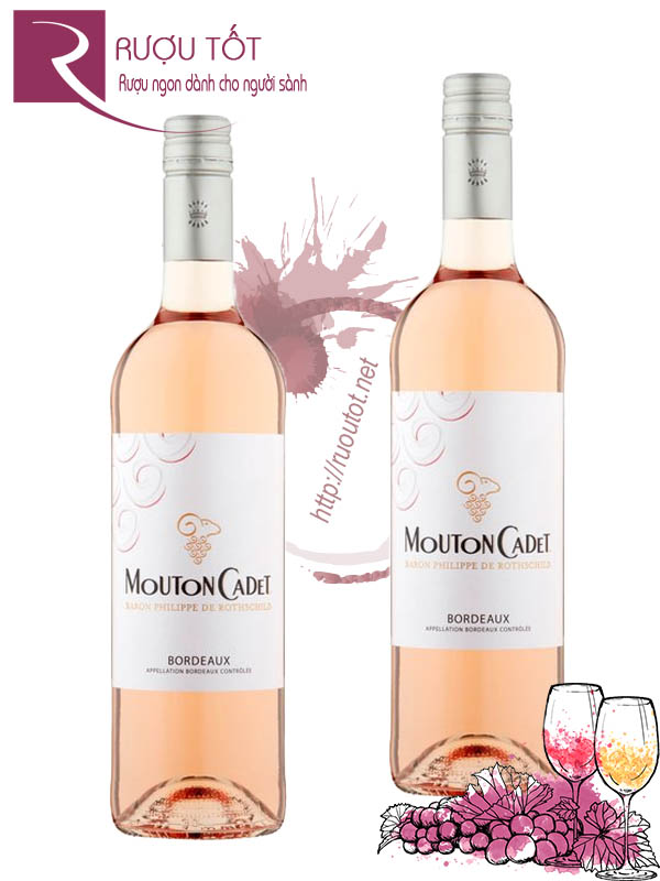 Vang Pháp Mouton Cadet Rose Bordeaux