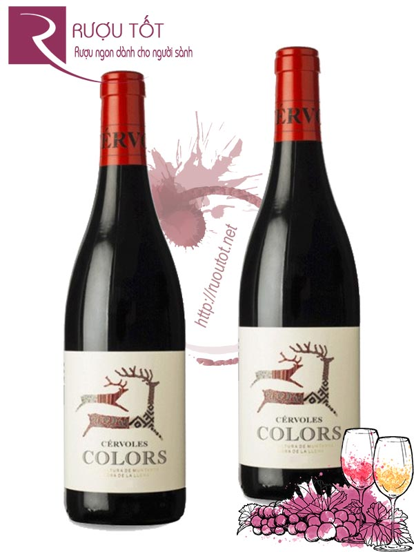 Rượu Vang Cervoles Celler Colors Red