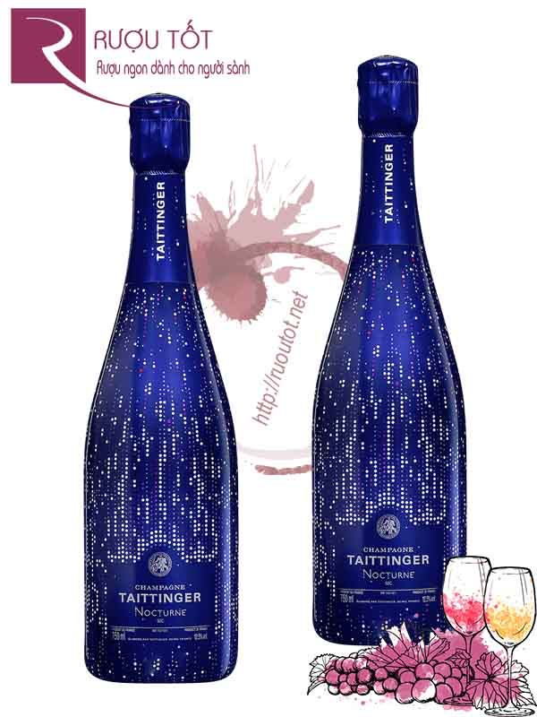 Rượu Vang Nổ Taittinger Nocturne Champagne City Lights