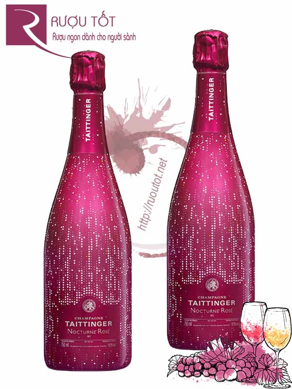 Rượu Vang Nổ Taittinger Nocturne Rose Champagne City Lights