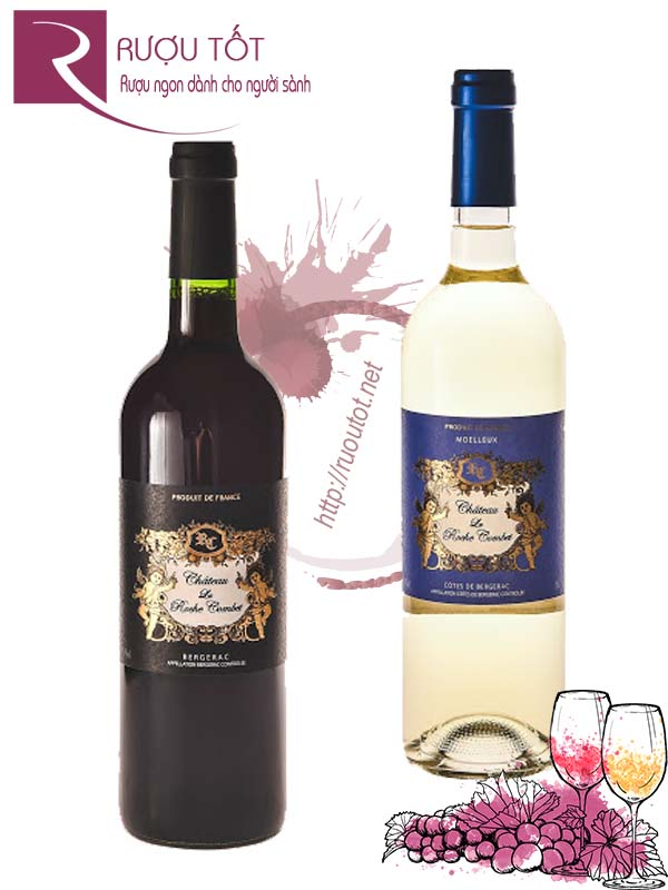 Vang Pháp Chateau La Roche Combet Red - White Cao cấp
