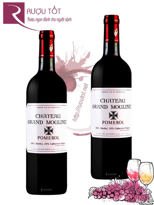 Vang Pháp Chateau Gran Moulinet Pomerol Cao cấp