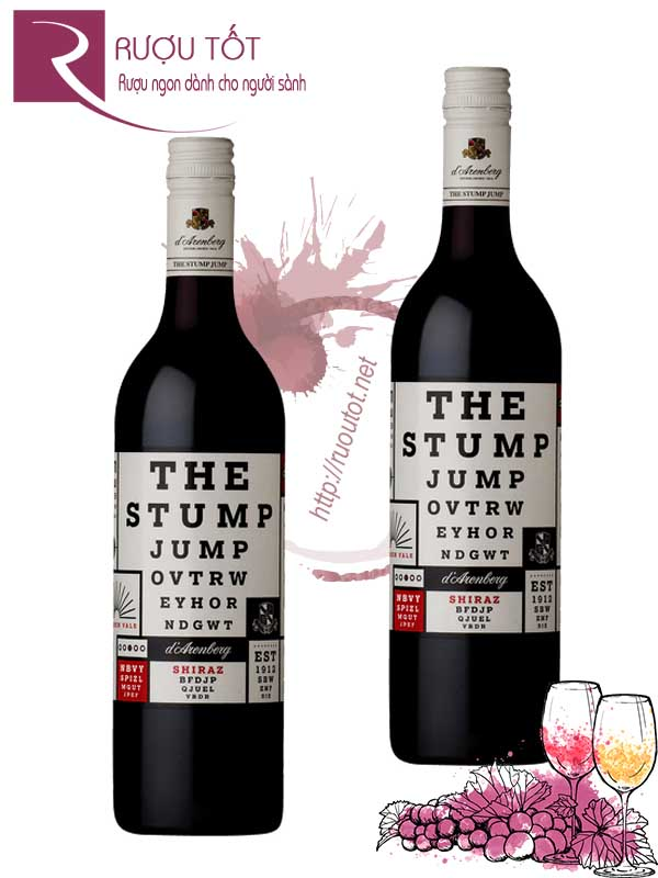 Rượu vang The Stump Jump Shiraz DArenberg Hảo hạng