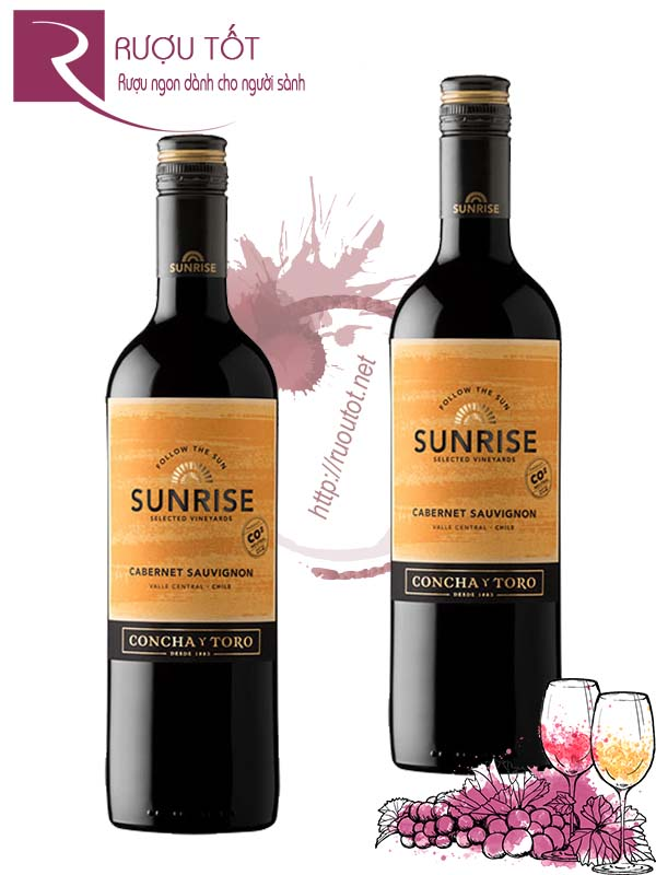 Vang Chile Sunrise Cabernet Sauvignon Concha Y Toro Thượng hạng