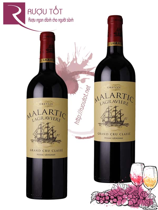 Vang Pháp Chateau Malartic Lagraviere Grand Cru Classe Cao cấp