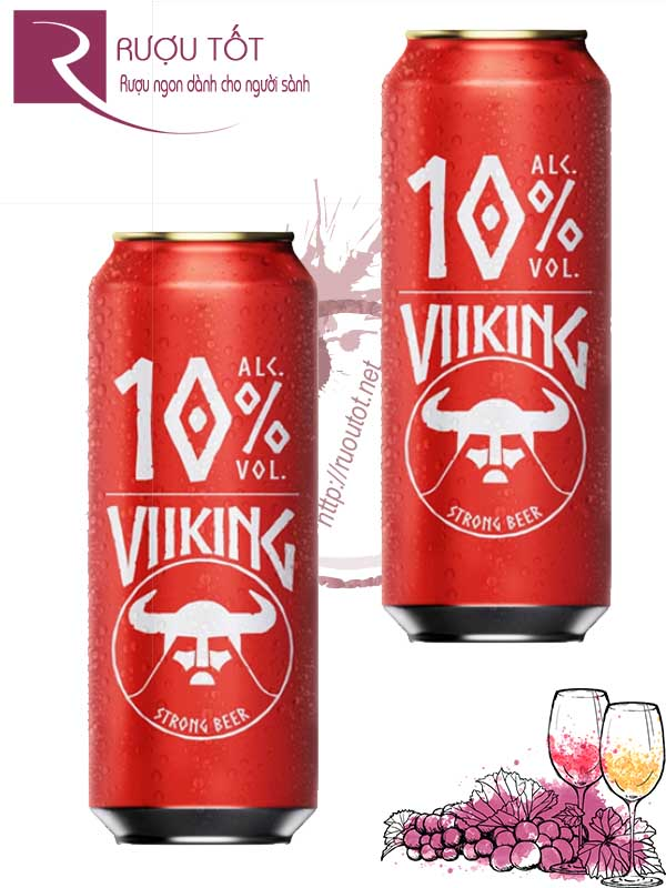 Bia Đức Viiking Strong Beer 10% – Lon 500ml