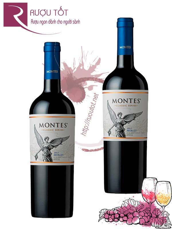 Vang Chile Montes Classic Series Merlot Colchagua Valley