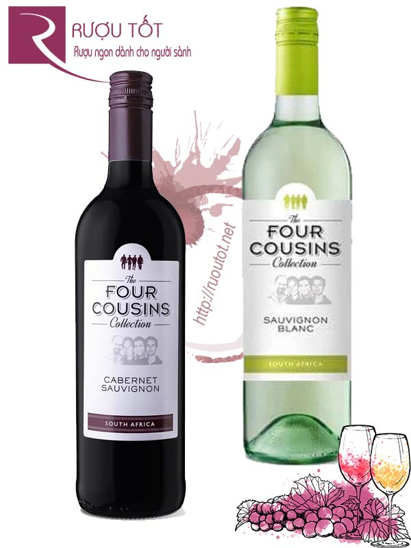 Rượu vang Four Cousins Collection (Red – White) Hảo hạng