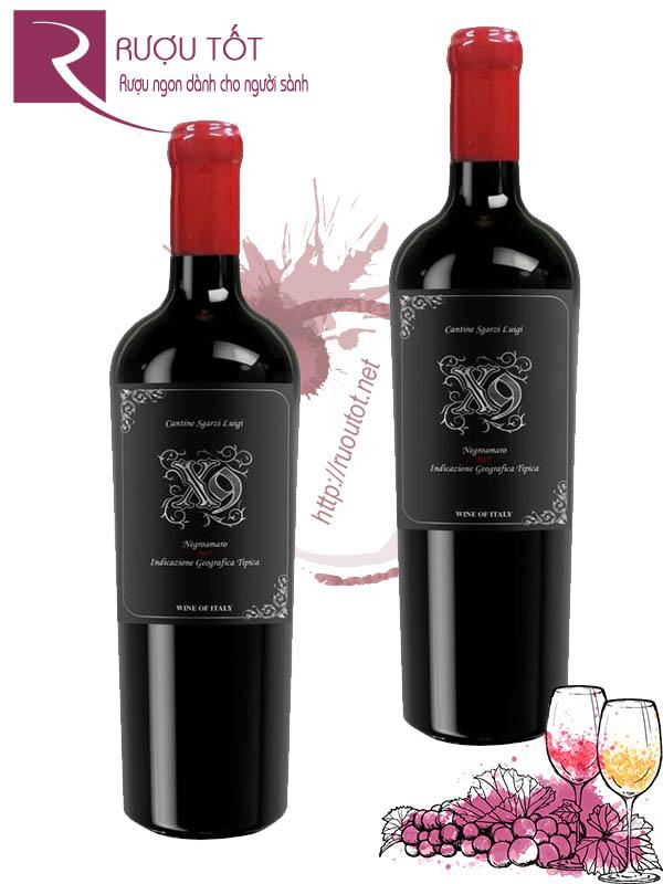 Rượu vang Ý X9 Negroamaro