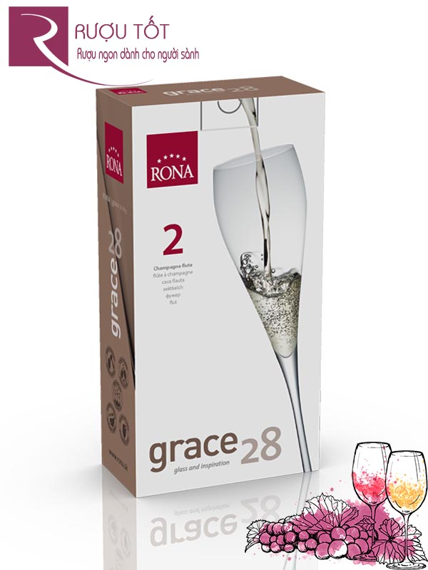 Ly Champagne Flutes Rona grace 28